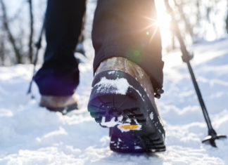 Winter Hiking Boots in the Snow