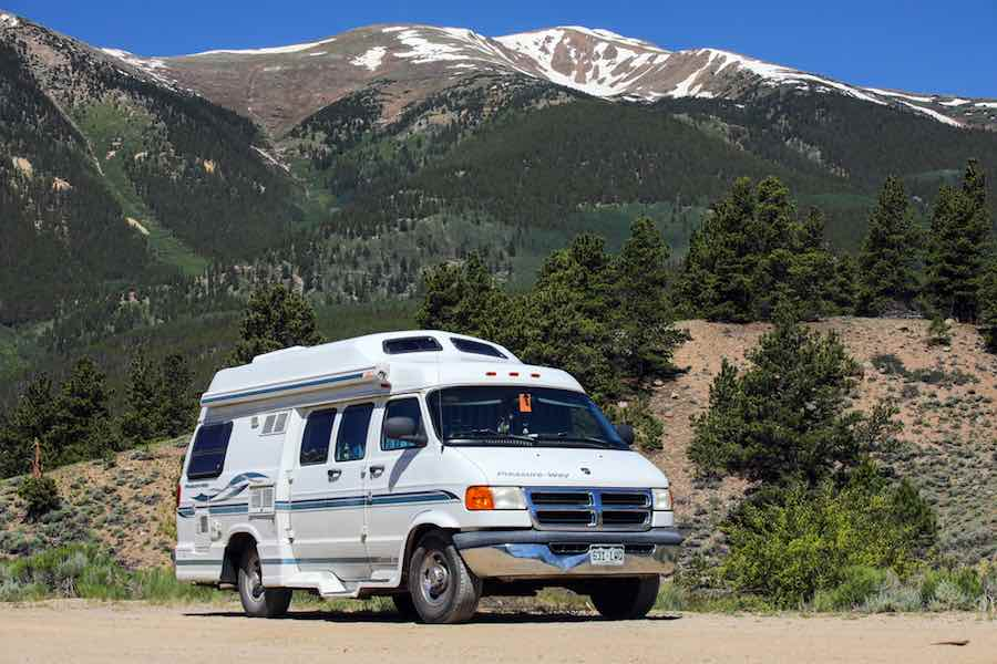 Class B Campervan in the mountains