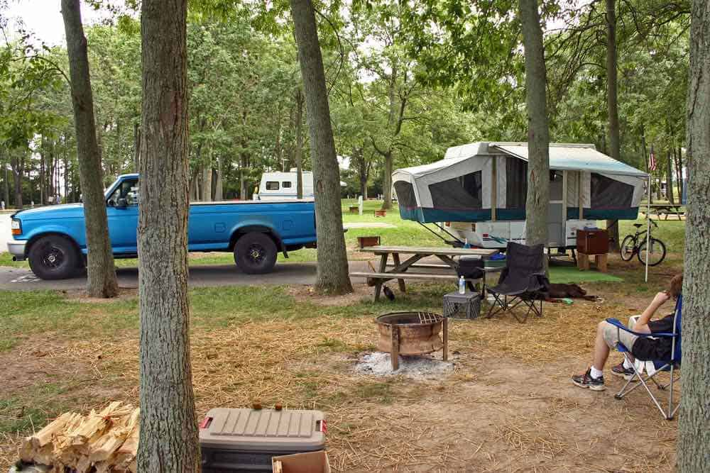 Pop Up Camper and Truck