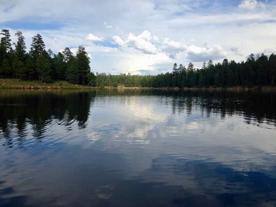 Woods Canyon Lake on the Mogollon Rim in the Apache Sitgreaves National Forest