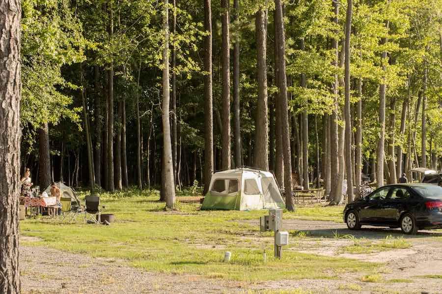 Camping at Virginia Beach North Landing Campground