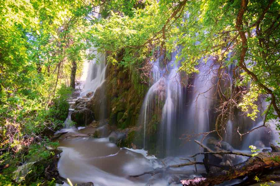 Gorman Falls, Colorado Bend State Park, in the Texas Hill Country
