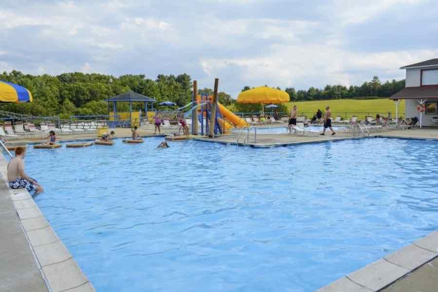 Swimming Pool at Lake Ridge RV Resort. A Virginia Campground.