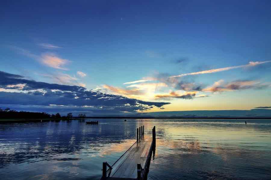 Sunset at Lake Whitney