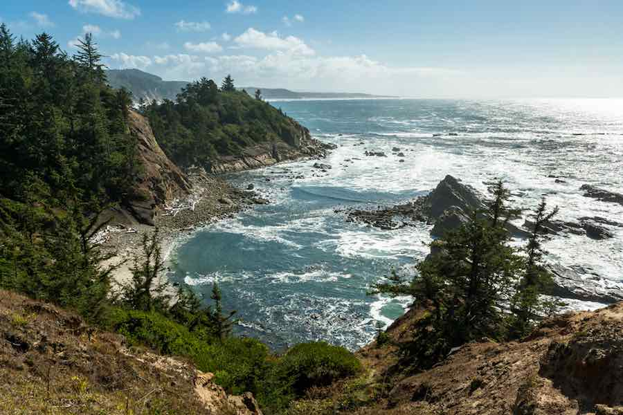 Pacific ocean at Cape Arago State Park, Oregon