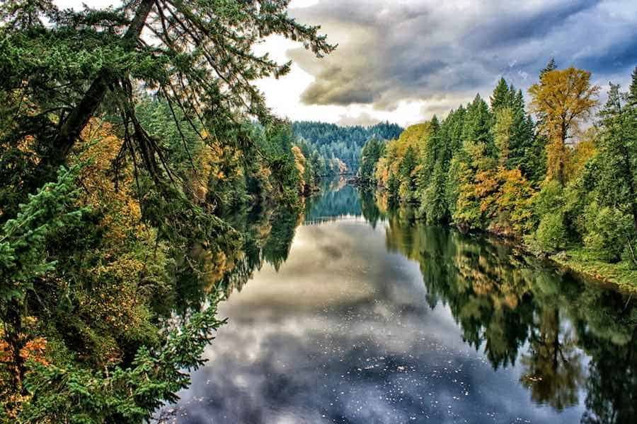 Reflections on the Clackamas River, Oregon