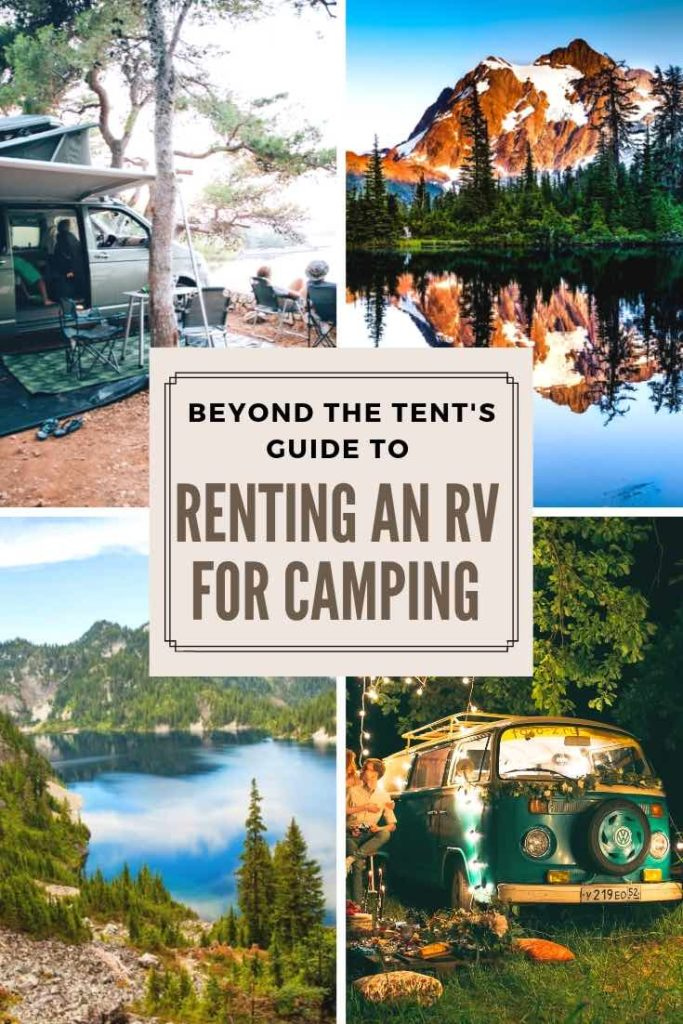 Pinterest Image about Renting an RV for Camping.