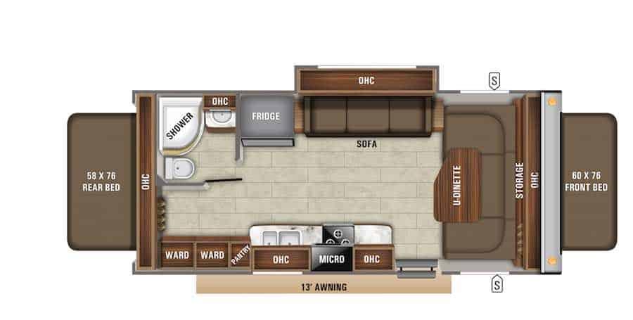 Jayco Hybrid Camper Floorplan