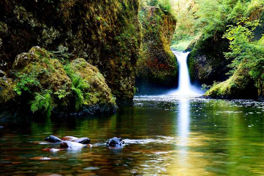 Punch Bowl Falls waterfall on Eagle Creek in the Columbia River Gorge