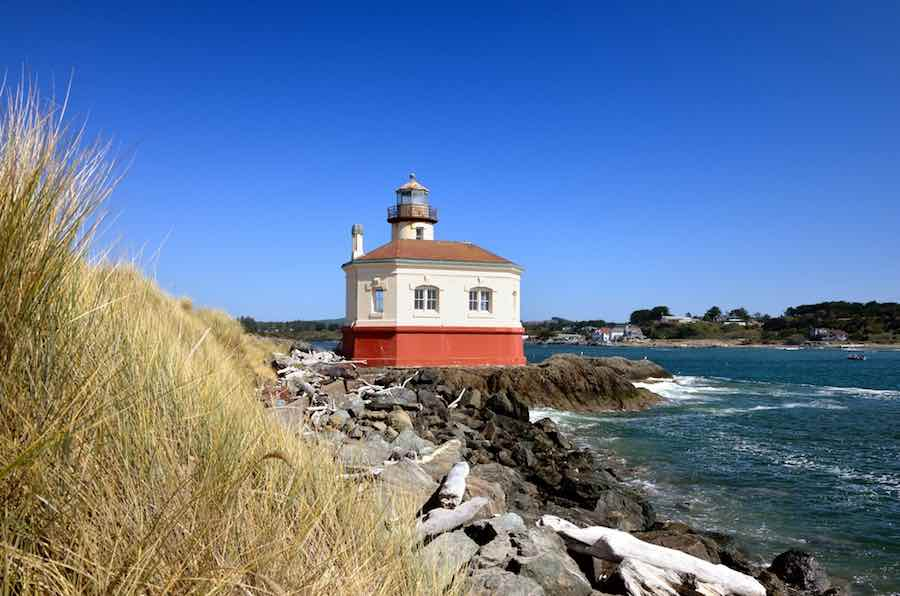 Coquille River Lighthouse, Bullards Beach State Park, Bandon, Oregon