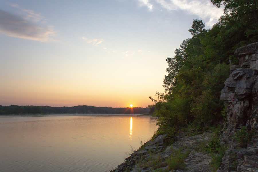 Camping at Coralville Lake in Iowa
