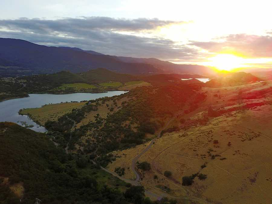 Sunset at Emigrant Lake near Ashland Oregon