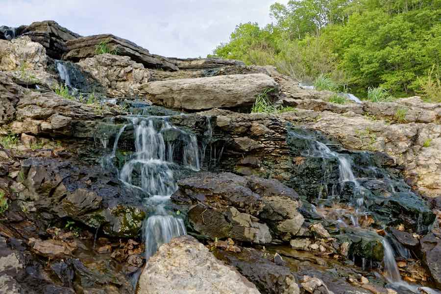 Small waterfall at Lake Macbride State Park.