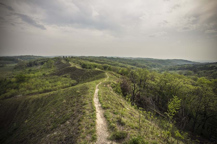 Trail on the Loess Hills in Iowa