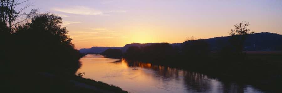 Upper Iowa River Sunset