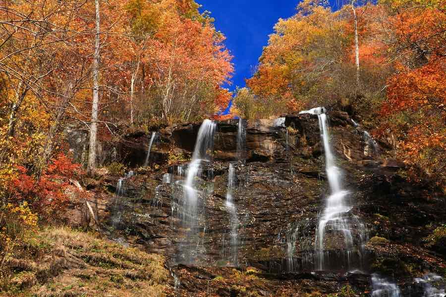 Amicalola Falls in autumn Georgia