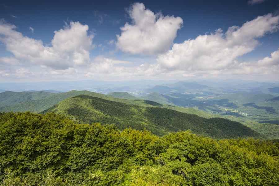 Appalachian mountains in north Georgia
