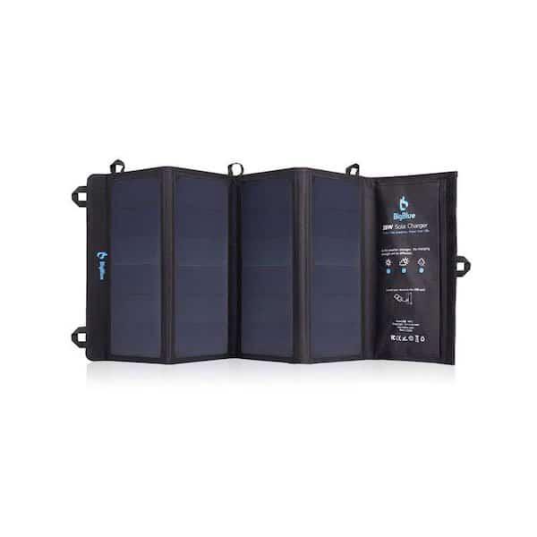 Big Blue Portable Camping Solar Panel.