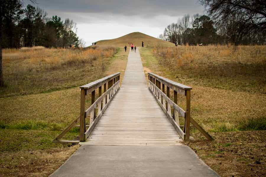 Hiking the Bridge and Trail at Ocmulgee Mounds Trail