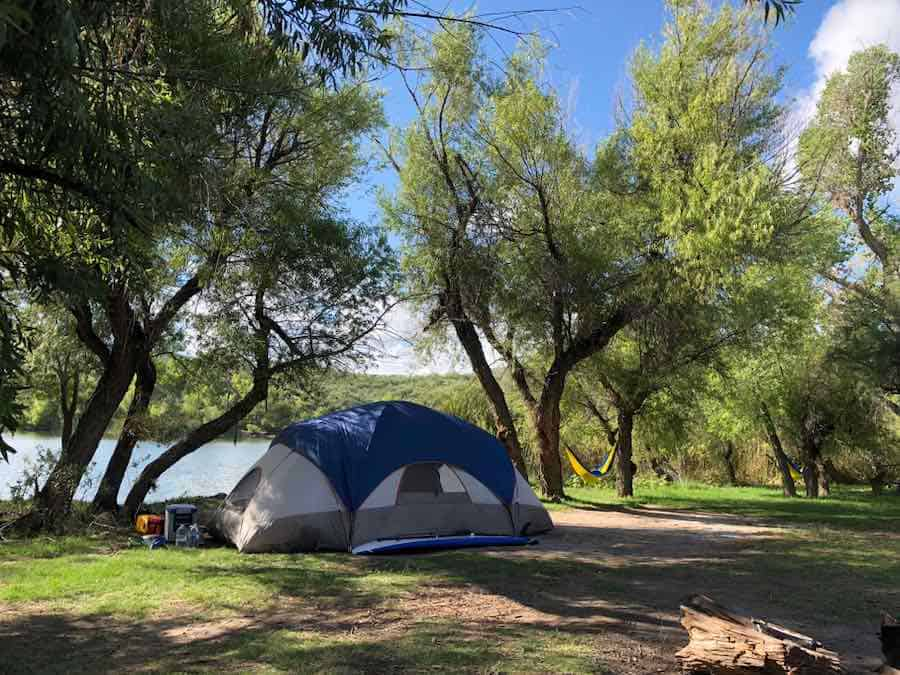 Camping at Patagonia Lake State Park, AZ