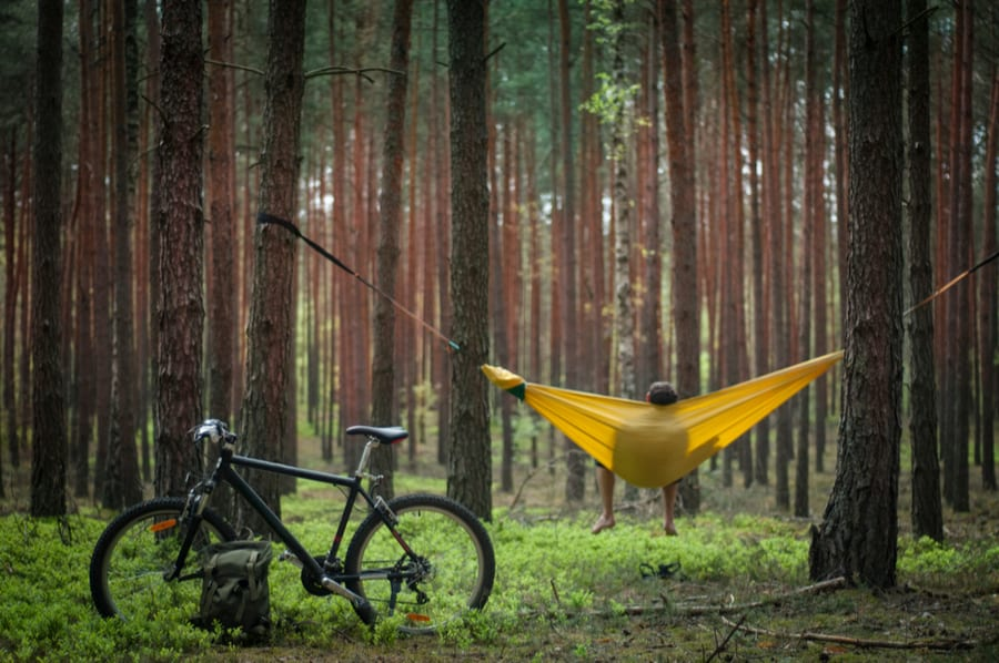 Hammock Camping While Bicycle Camping