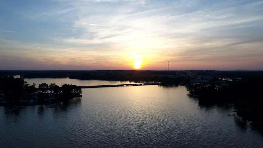 Sunset over Lake Sinclair, Georgia