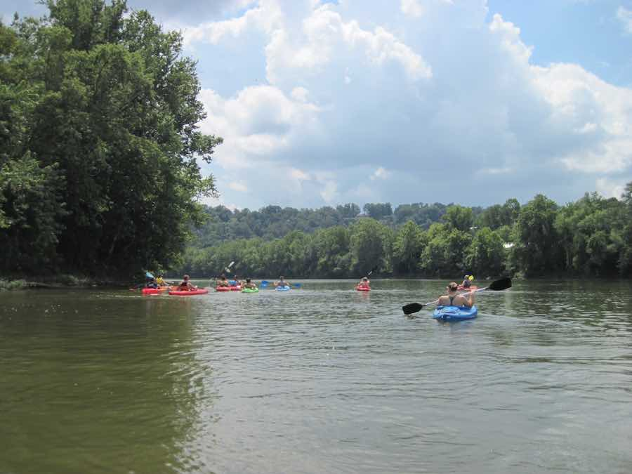 Kayaking the Muskingum River