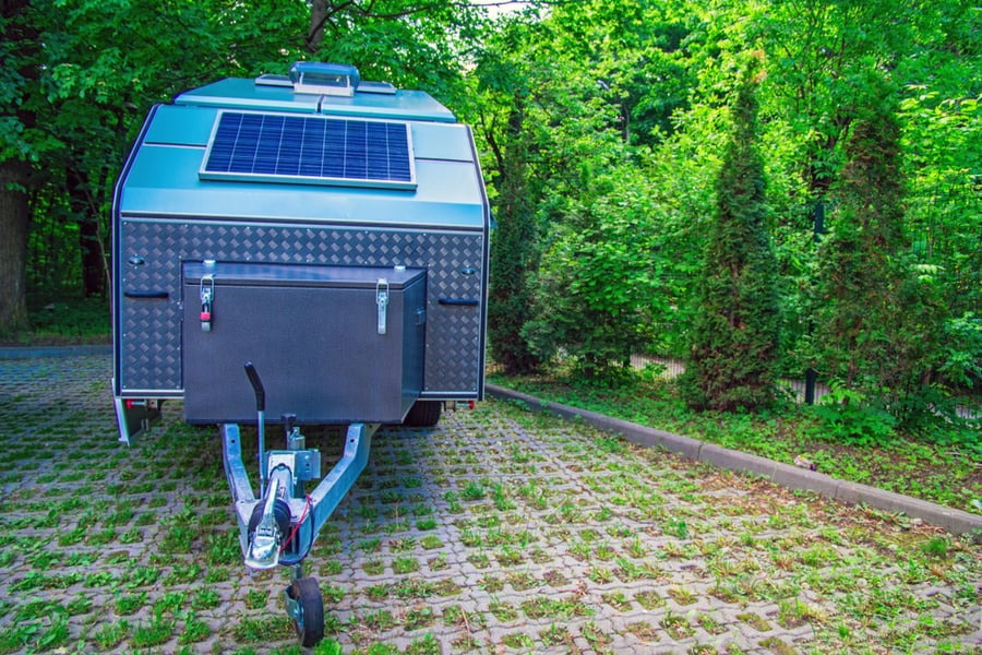 Camping Trailer wired for solar power