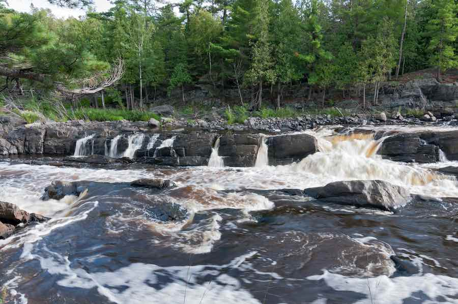 Rapids flowing in the St. Louis River at Jay Cooke State Park