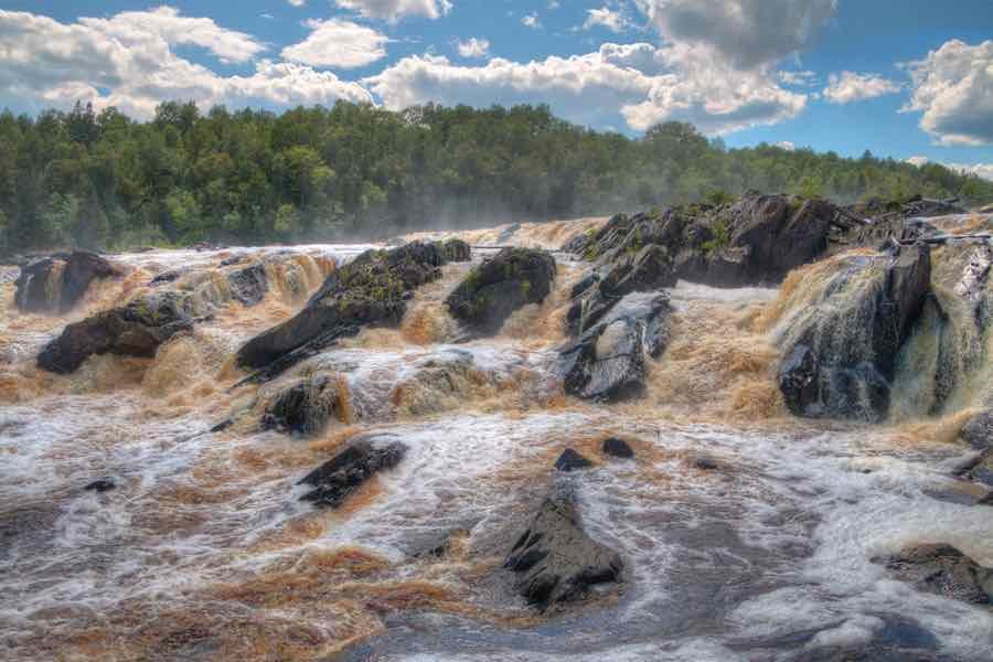Rough rapids at St. Louis River -