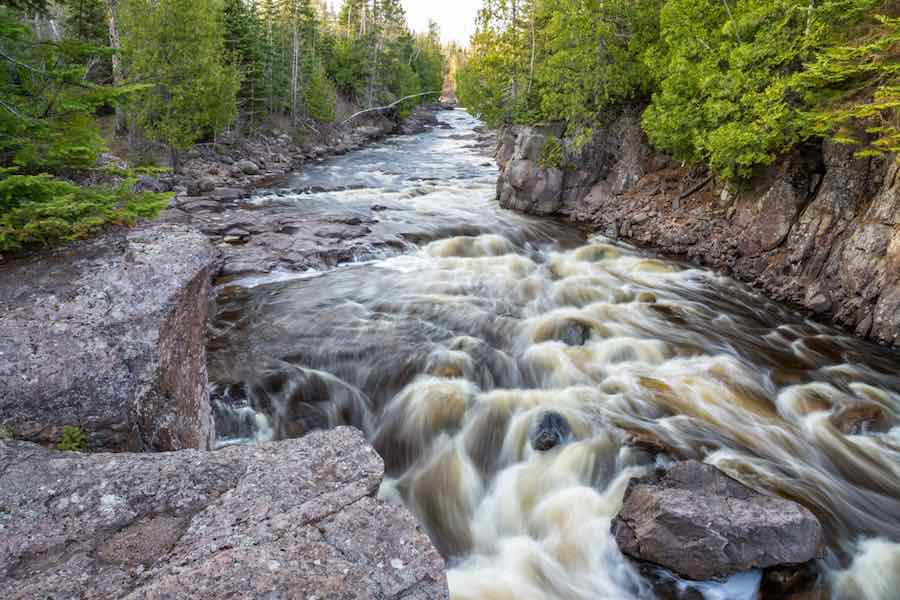 Flowing Rapids at Temperance River State Park
