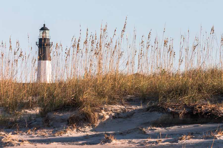 Tybee Island Lighthouse on the Atlantic Ocean in Georgia