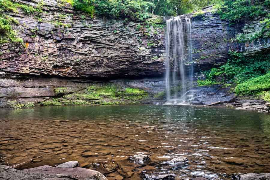 Waterfall at Cloudland Canyon State Park in north Georgia