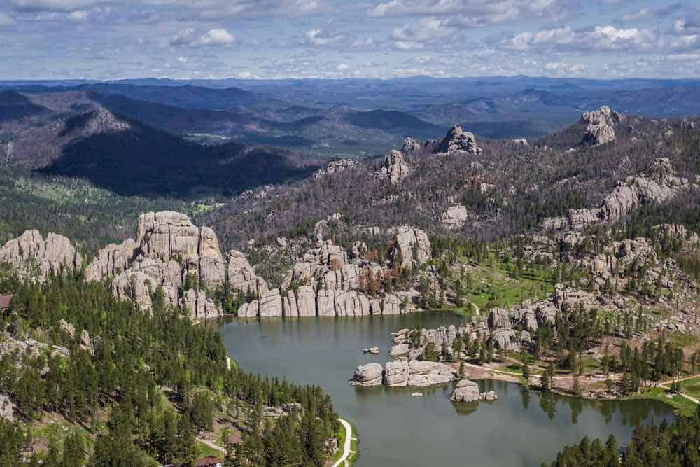 sylvan lake and granite formations in the Black Hills