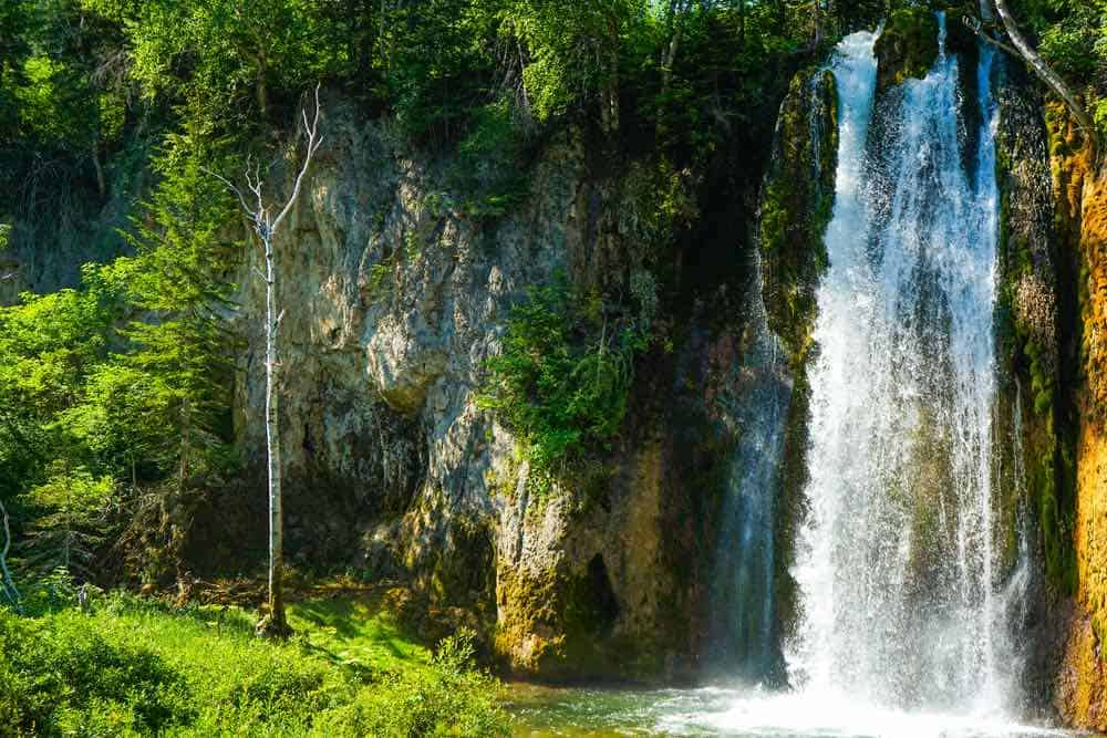 Waterfall at Spearfish Canyon, South Dakota