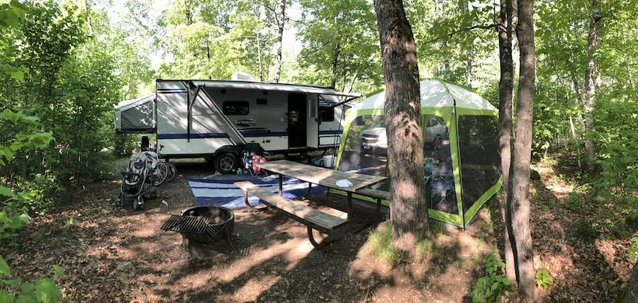 Hybrid Camping Trailer at Bear Head Lake State Park