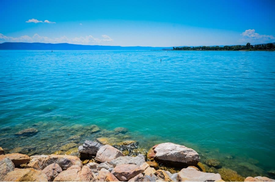 Bear Lake State Park on Border of Idaho and Utah