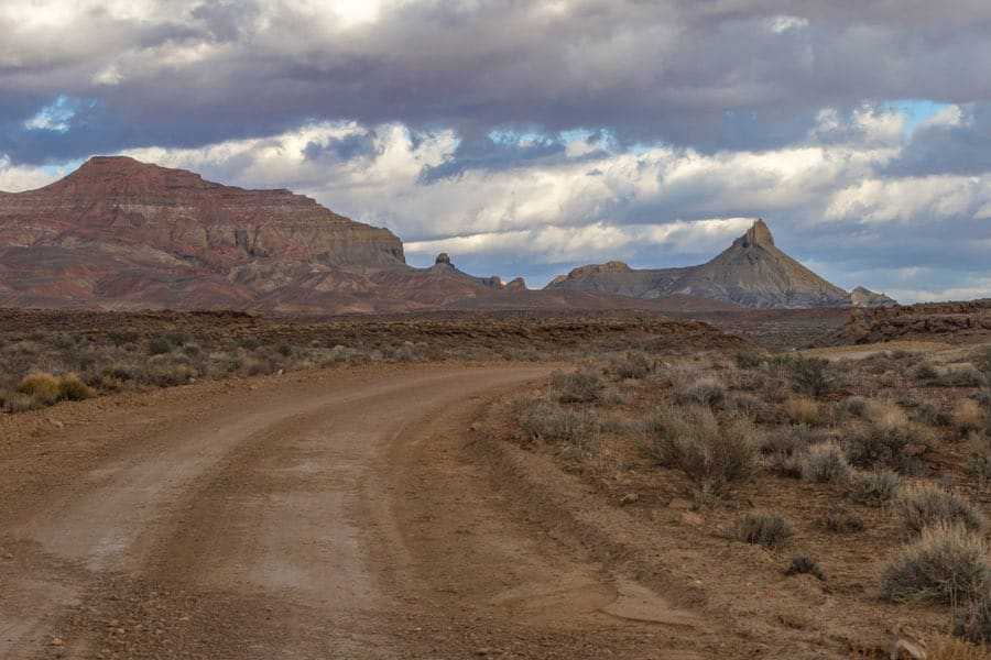 Road Towards Calf Creek Campground in Grand Staircase-Escalante National Monument