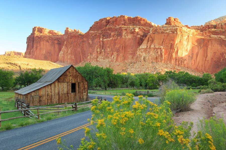 A Historic Barn in Capitol Reef National Park