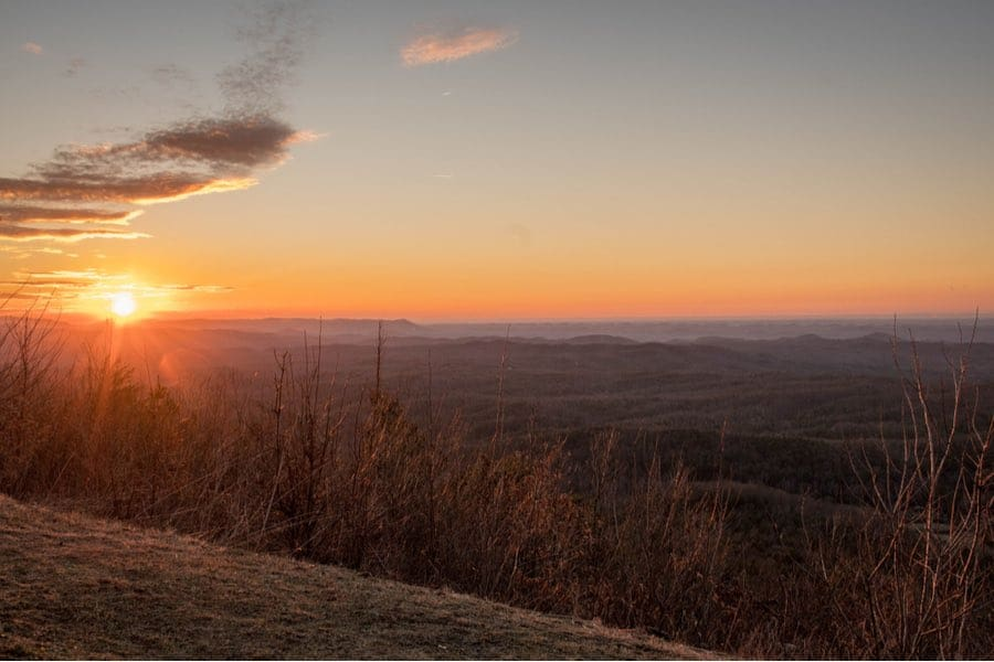 View at Sunset in Cherokee National Forest