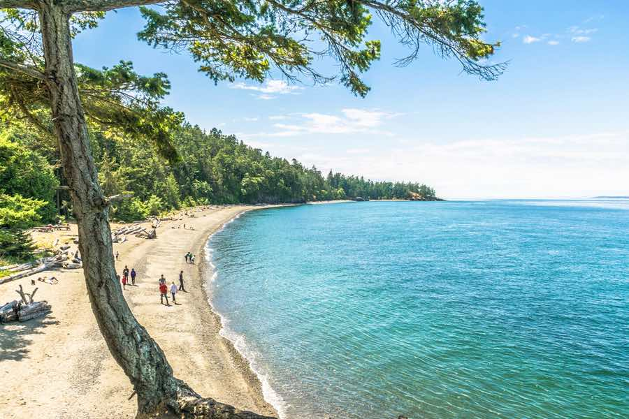 Beach at Deception Pass State Park in Washington