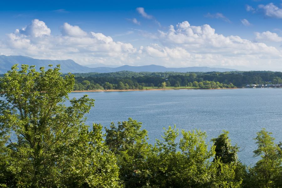Douglas Lake Near Anchor Down RV Campground in Tennessee