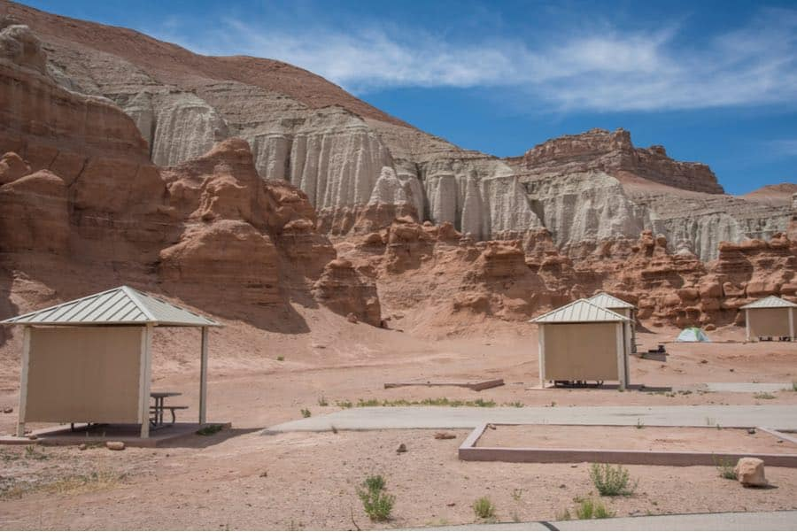 Camping Area at Remote Goblin Valley State Park in Utah