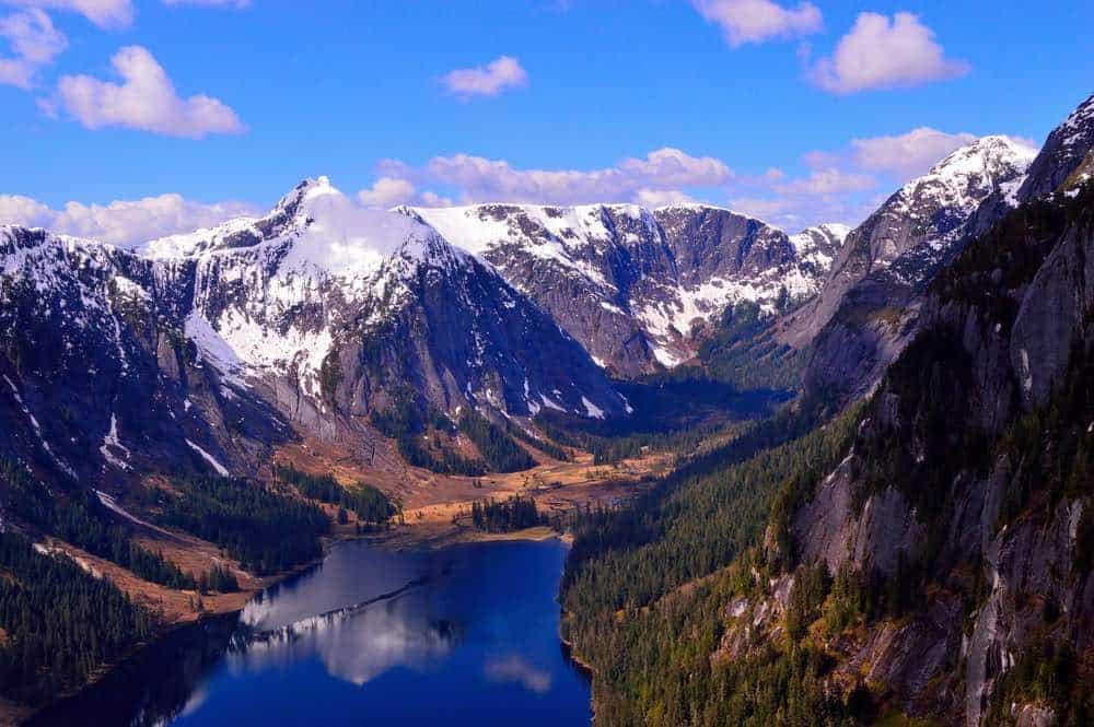 Nooya Lake in Misty Fjord National Monument, Alaska