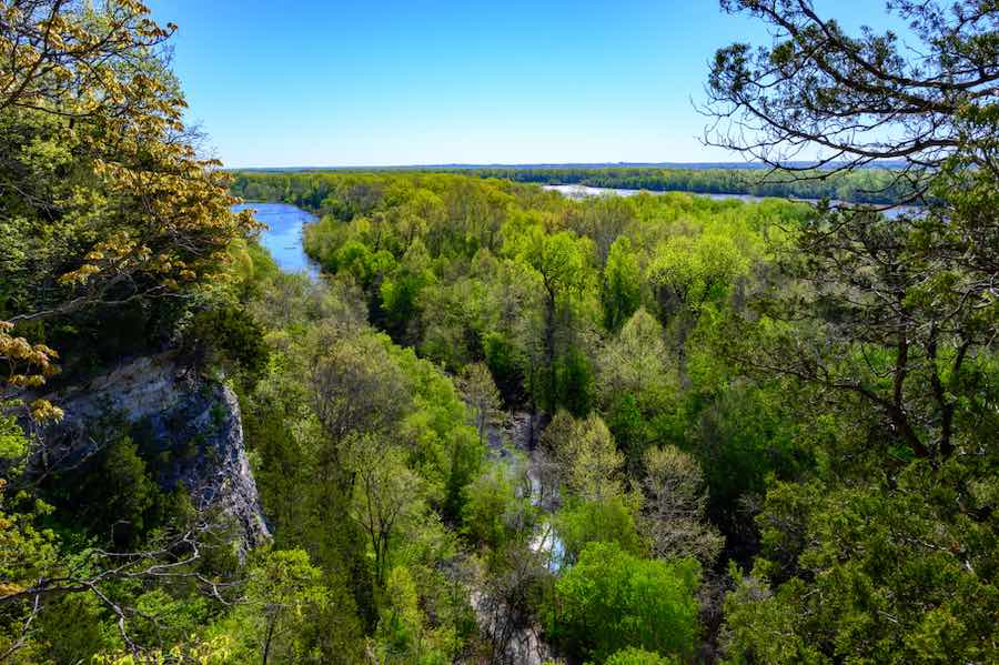 Picture from the cliffs on the Lewis and Clark Trail in Missouri