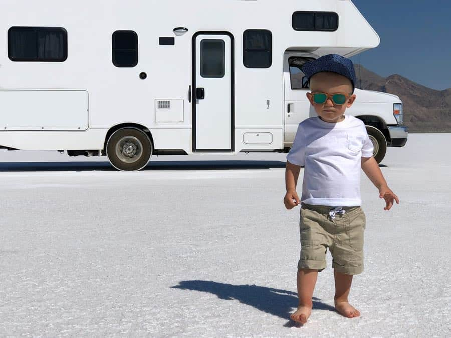 Small Child RV Camping in Utah