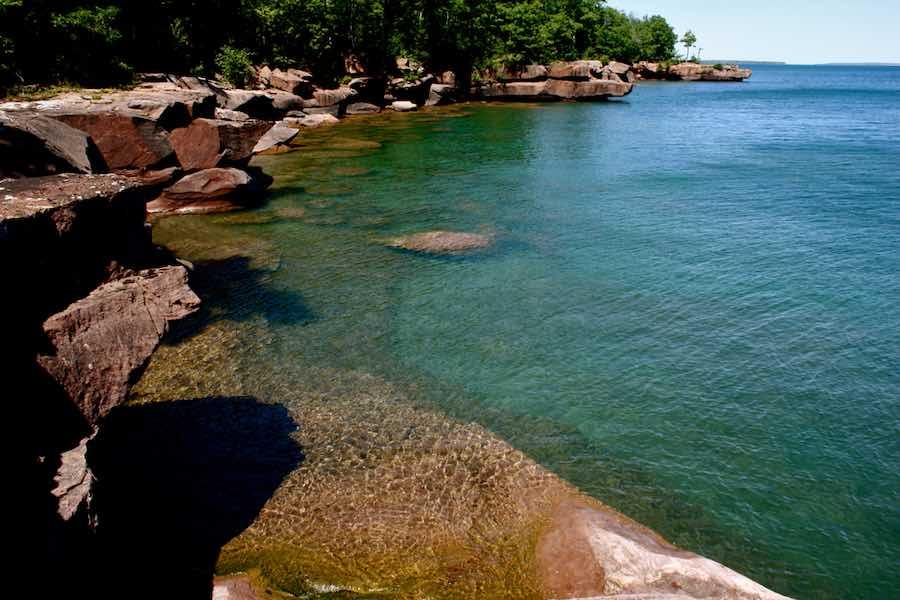 Shoreline on the Apostle Islands