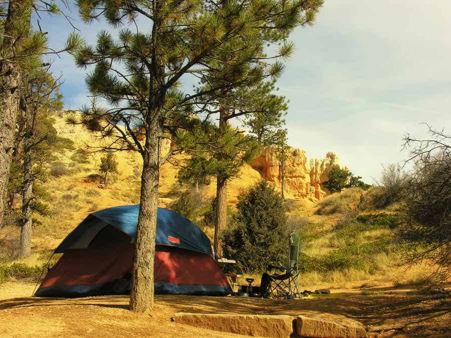 Tent at Sunset Campground in Bryce Canyon National Park