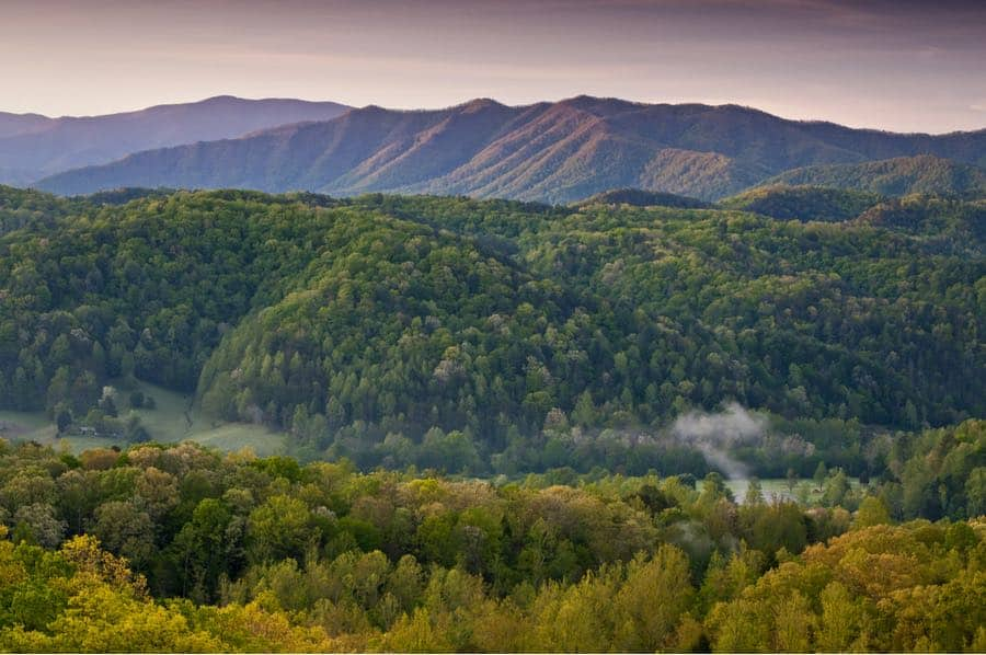Sunrise Near Townsend in Tennessee