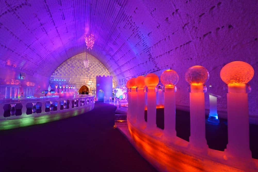 Wedding Chapel and ice bar at the Aurora Ice Museum